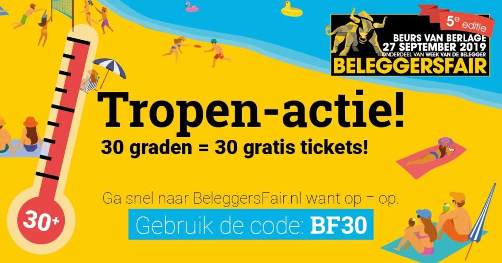 Elke Tropendag: dertig gratis tickets BeleggersFair